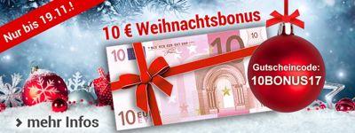 10.- € Gutschein als Weihnachtsbonus für Sie!
