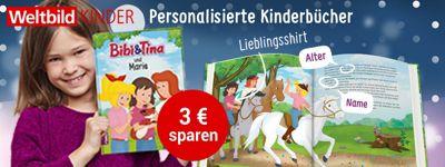 Personalisierte Kinderbücher - 3 € sparen