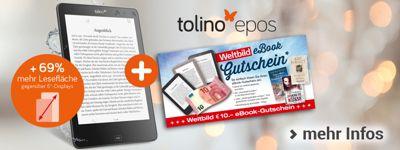 DIE Geschenkidee: tolino epos + GRATIS 10.- € eBook-Gutschein
