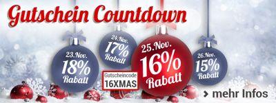 Nur heute: 16% Rabatt für Sie bei unserem Gutschein-Countdown!
