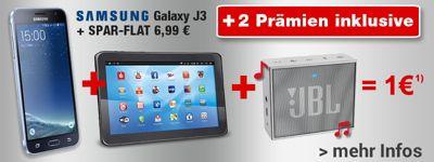 Samsung + Tablet + Lautsprecher für 1€!