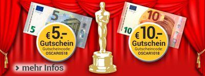 Oscarreif: Bis zu 10.- € Rabatt für Sie!