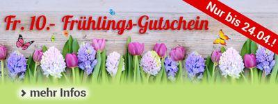 Frühlingsgefühle: Fr. 10.- Gutschein für Sie!