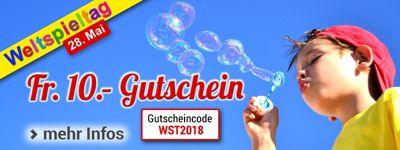 Weltspieltag 2018: Fr. 10.- Gutschein auf Spielwaren und mehr!