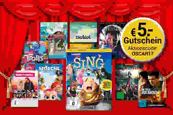 Oscarreif: 5.- € Gutschein auf 10 ausgewählte Film-Hits auf DVD & Blu-ray!!