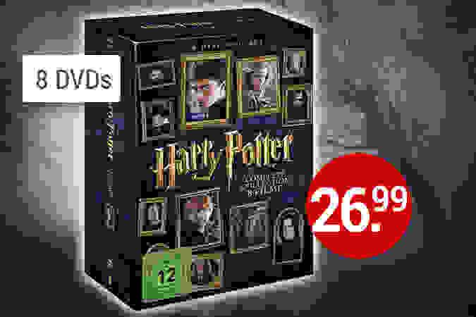 Alle Harry Potter Filme in einer Box - 8 DVDs jetzt kaufen
