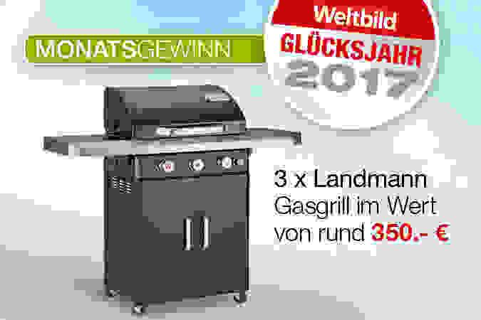 Unser aktueller Monatsgewinn: 3 x Landmann Gasgrill im Wert von je rund 350.- €!