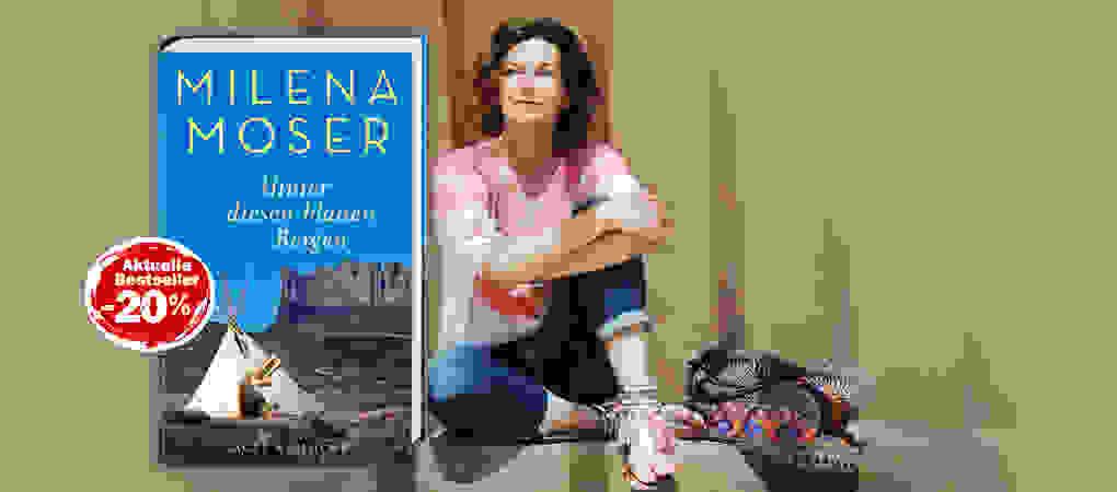 Milena Moser-Hinter diesen blauen Bergen-Buch