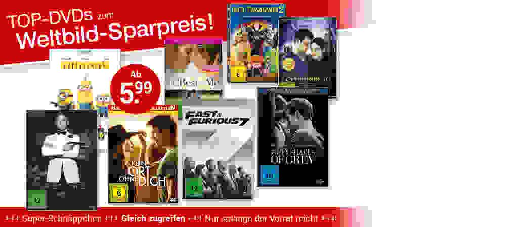 Top-DVDs zum Weltbild-Sparpreis!