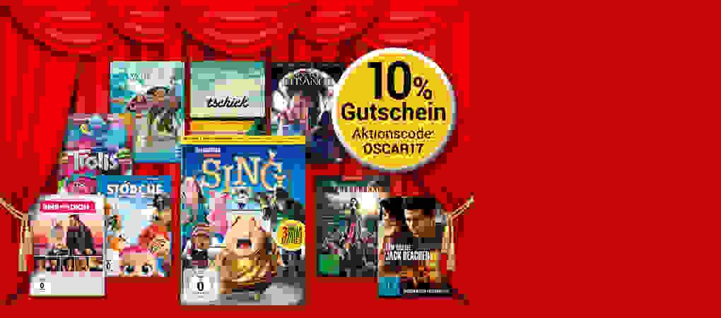 Oscarreif: 10% Gutschein auf alle DVD & Blu-ray's!