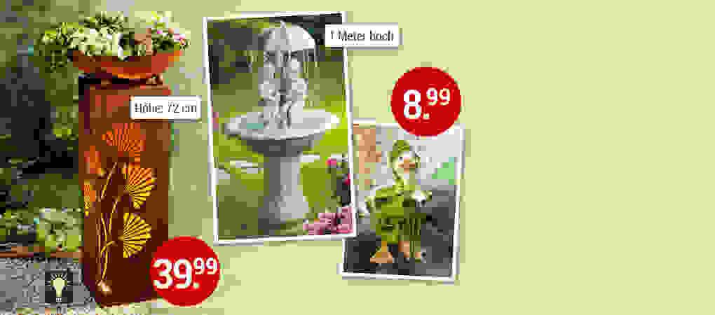 Romantisch, witzig oder modern: Gartendekoration für jeden Geschmack