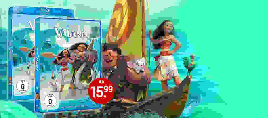 Disneys Vaiana jetzt auf DVD & Blu-ray - Auf Weltbild.de kaufen!