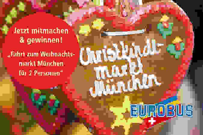 Fahrt zum Weihnachtsmarkt München mit Übernachtung für 2 Personen im Wert von Fr. 417.-!