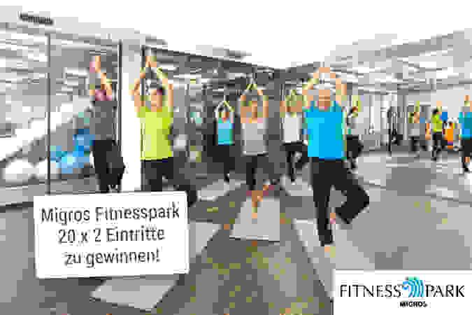 Jetzt 20 x zwei Eintritte in einen Migros Fitnesspark in Ihrer Nähe gewinnen!