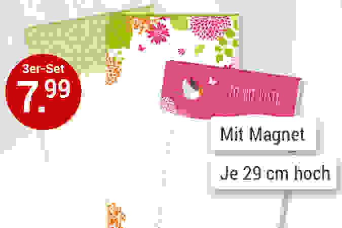 Magnet-Notizblöcke in Jumbogröße: Für den Einkaufszettel, liebe Botschaften...