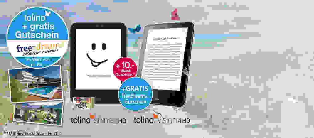 tolino freedreams Aktion - tolino* kaufen und Reisegutschein erhalten