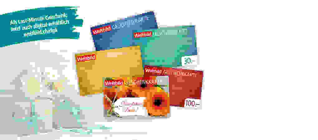 Tolle Geschenkidee zum Muttertag - Die Weltbild Geschenkkarte