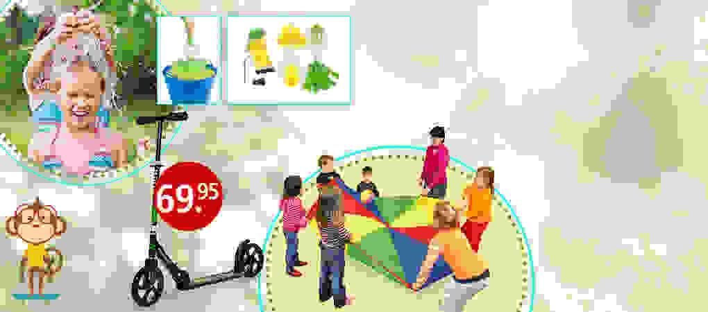 Tolle Spielsachen für die Outdoor-Kinderparty