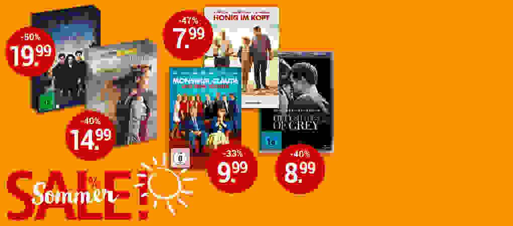 Sommer-SALE - Film-Schnäppchen bis zu 50% sichern!