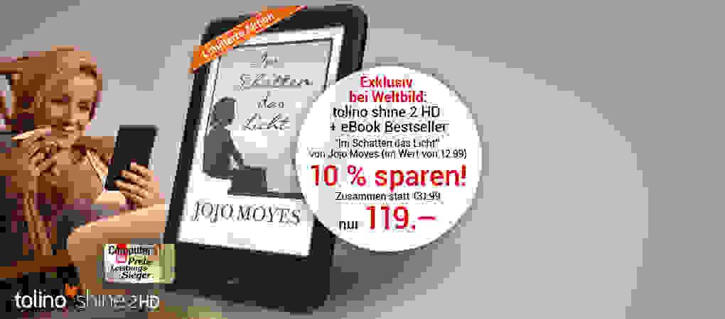 Das Set zum gleich Loslegen: tolino shine 2 HD + neues eBook von Jojo Moyes - jetzt vorbestellen
