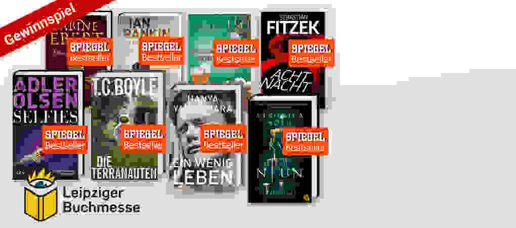 Gewinnspiel zur Leipziger Buchmesse: Handsignierte Spiegel-Bestseller zu gewinnen!