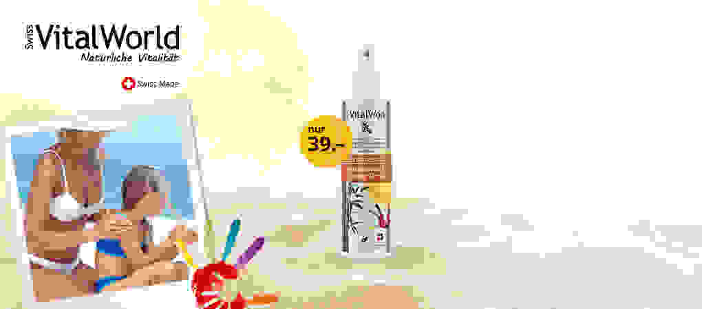 Für empfindliche Kinderhaut - Sonnenspray SPF30 für Kids.