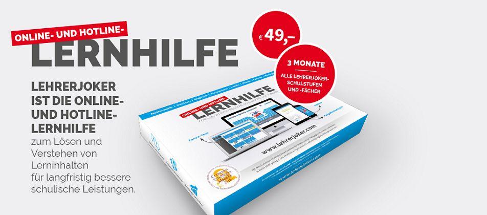 Die Online- und Hotline- Lernhilfebox
