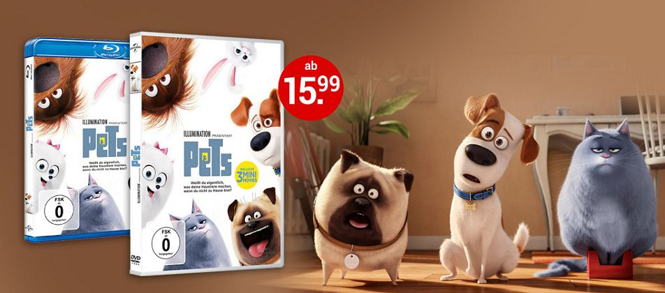 Pets auf DVD & Blu-ray jetzt bestellen!