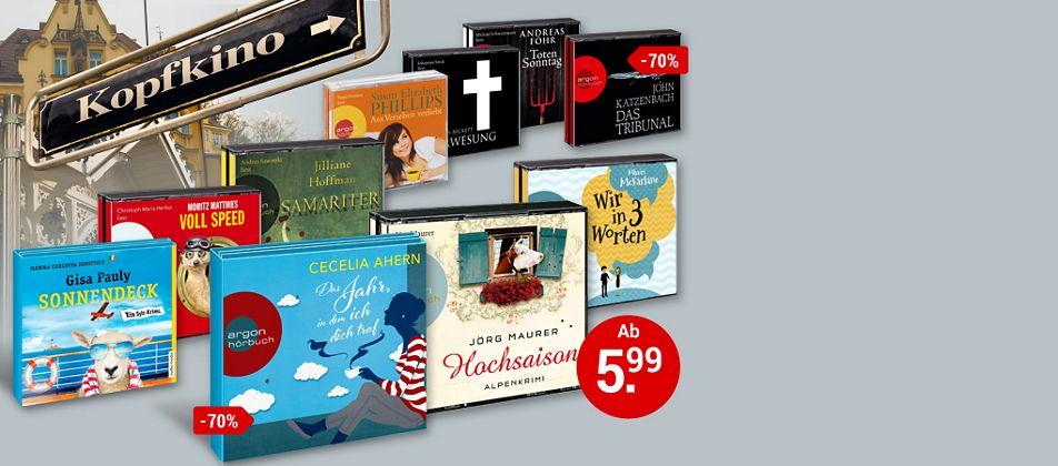 Jetzt zugreifen und bis zu 70% sparen! Top-Hörbücher ab 5.99 €