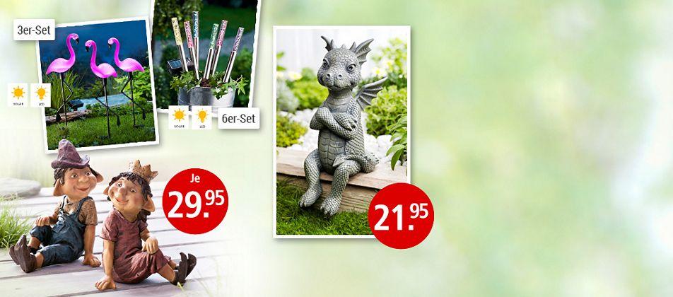 Lustige Deko für den Garten