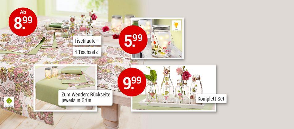 Servieren Sie Sommerlaune - mit Tischdeko in frischen Pastellfarben