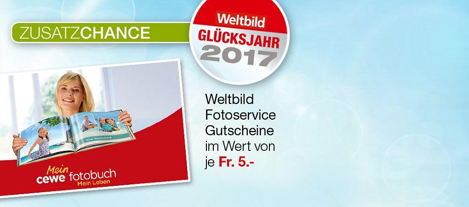 Zusatzchance: Weltbild Fotoservice Gutscheine im Wert von 5.-