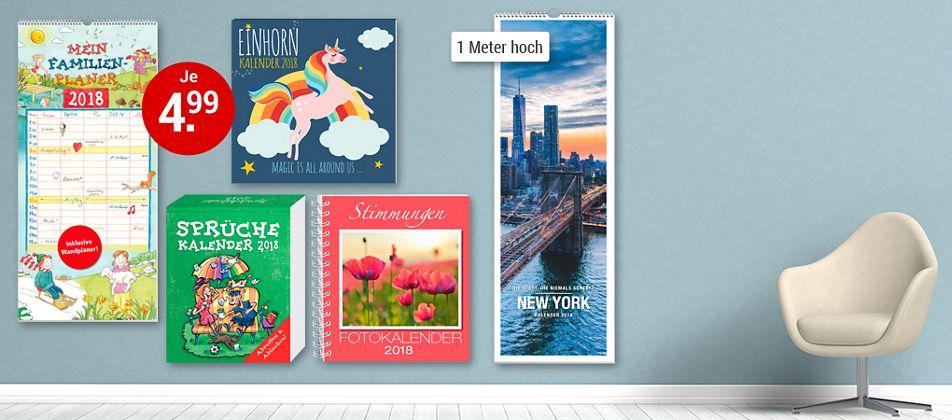 Druckfrisch - die neuen Kalender fürs Jahr 2018