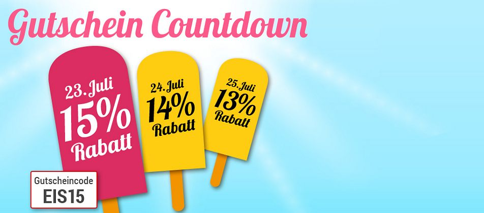 Gutschein-Countdown: Nur heute 15% Rabatt für Sie!