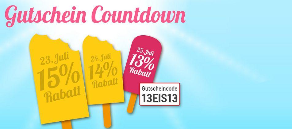 Gutschein-Countdown: Nur heute 13% Rabatt für Sie!