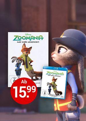 Zoomania auf DVD, Blu-ray und 3D Blu-ray