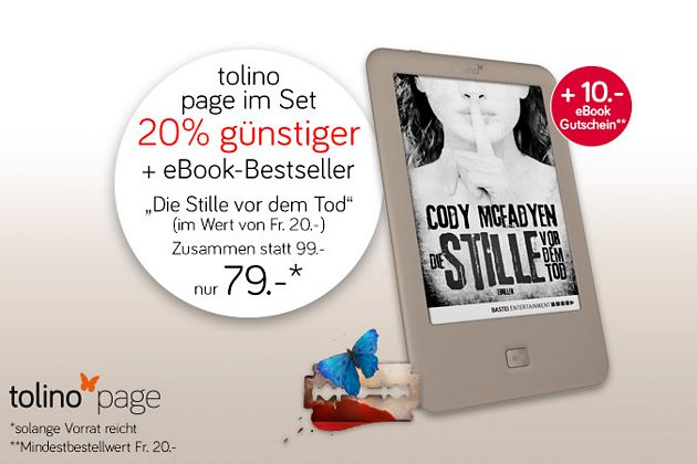 Limitiertes Top-Angebot - eReader inkl. eBook!
