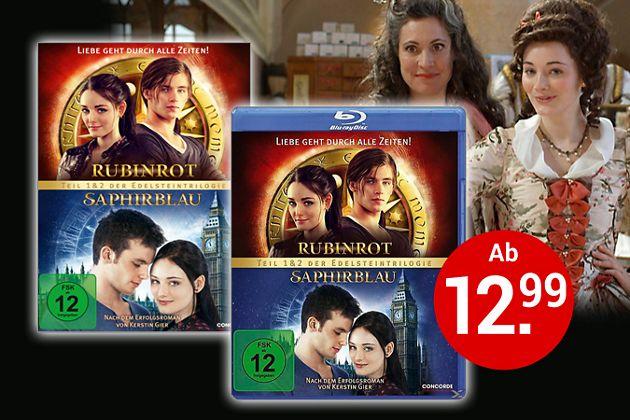 Rubinrot & Saphirblau auf DVD & Blu-ray