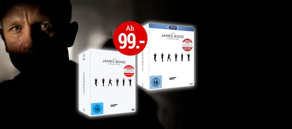 """The James Bond Collection - 24 DVDs inkl. """"Spectre"""""""
