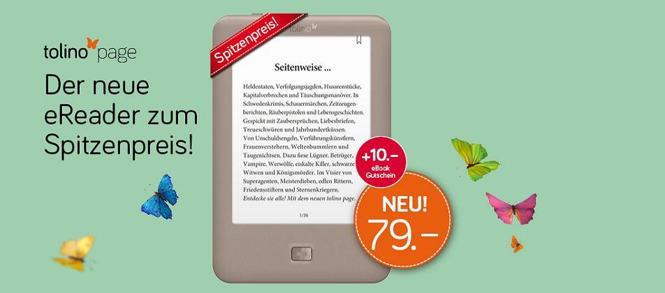 tolino page - der neue eReader zum Spitzenpreis! Lesen leicht gemacht!