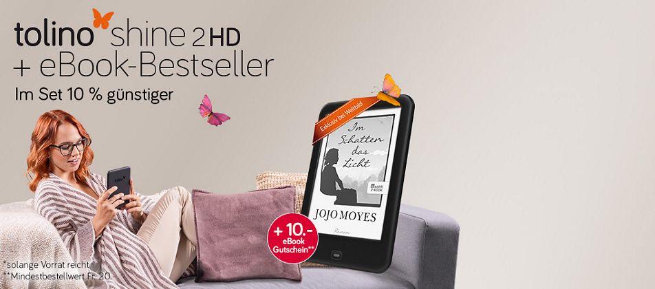 tolino shine 2 HD + Bestseller von Jojo Moyes - Jetzt für nur Fr. 129.-*