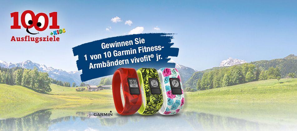 Gewinnen Sie eins von 10 Garmin Fitness-Armbändern für Kinder