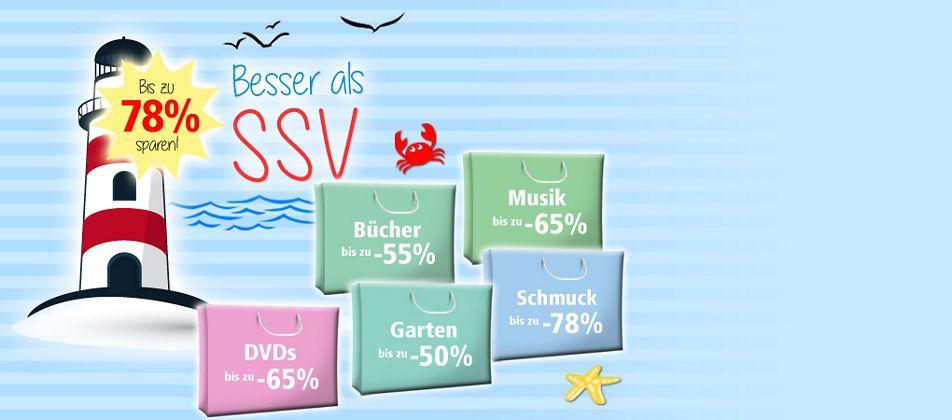 Besser als SSV - jetzt Schnäppchen bis zu 78% günstiger sichern!