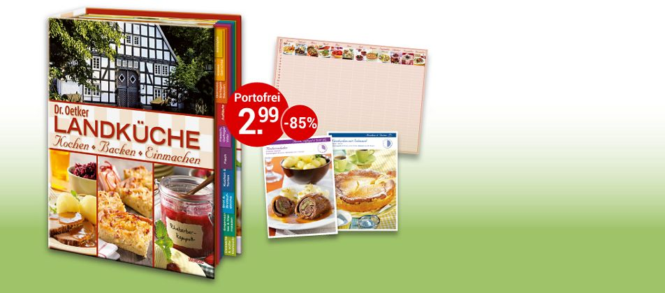 Dr. Oetker Landküche: Kochen, Backen, Einmachen
