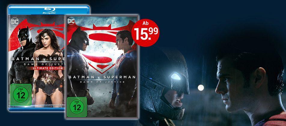 Batman v Superman auf DVD & Blu-ray - Jetzt bestellen!