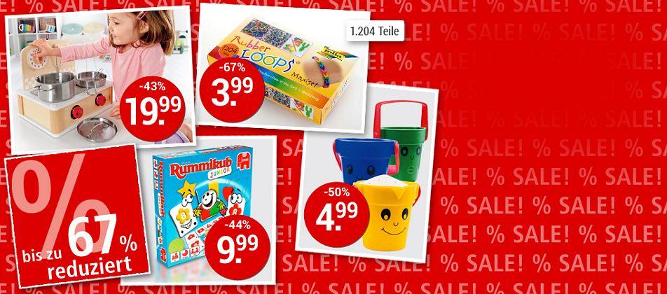 SALE - Spielwaren-Schnäppchen bis zu 67% sichern!