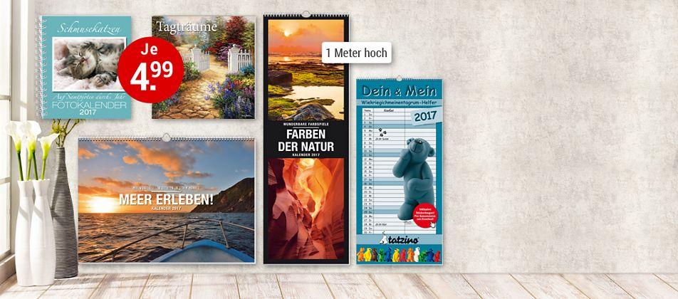 Druckfrisch - unsere Kalender 2017