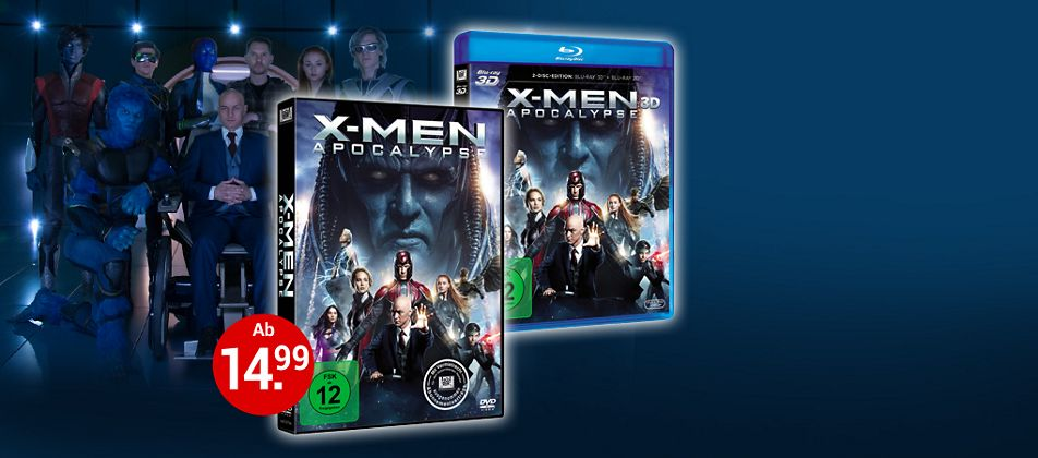 X-Men Apocalypse auf DVD & Blu-ray jetzt bestellen!