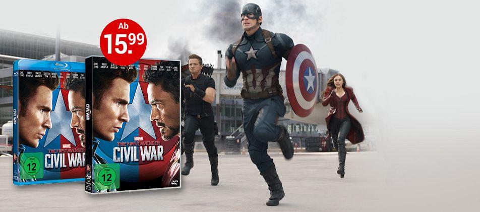 The First Avenger: Civil War auf DVD & Blu-ray jetzt bestellen