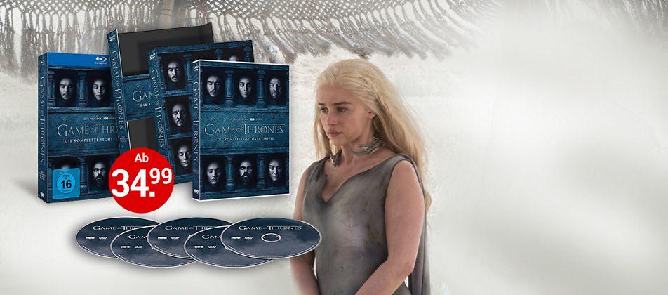 Game of Thrones Staffel 6 auf DVD & Blu-ray bestellen!